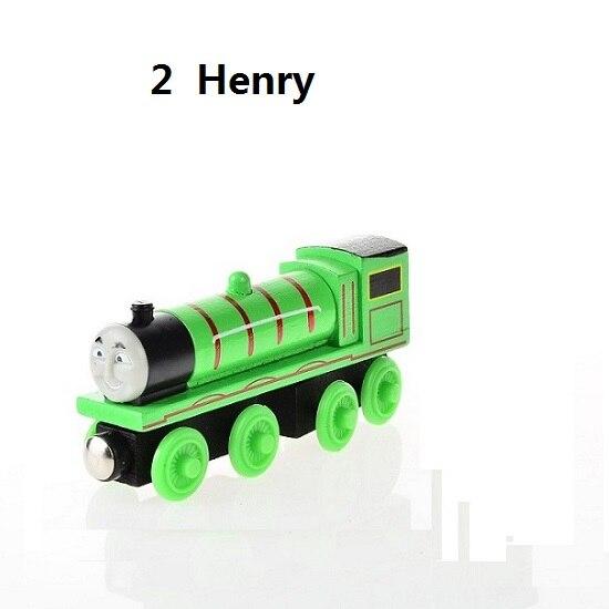 Деревянные магнитные паровозики, игрушки для железной дороги, деревянные паровозики для детей, подарок для детей, модель поезда - Цвет: Цвет: желтый