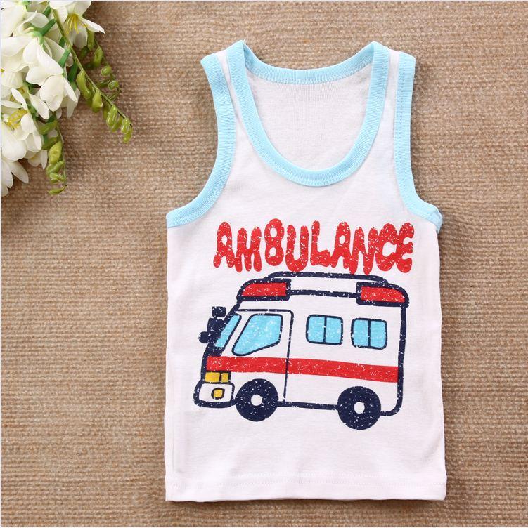 4 шт./лот хлопок футболки для грудничков детская футболка детская одежда детские футболки для мальчиков летняя одежда для девочек детские футболки детское платье без рукавов - Цвет: as photo