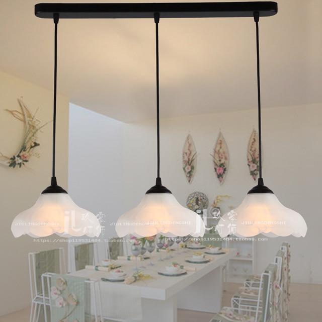 Personalidad creativa Barra de comedor lámparas colgantes una sola cabeza  lámpara mesa estilo rural candelabro FG515