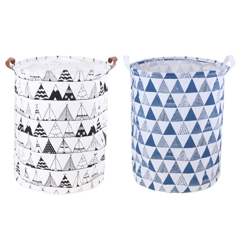 Fabric Dirty Folding Toy Clothes Laundry Basket Rattan Large Bag Storage Box Bins Hanging Organza Laundry Bag Laundry Hamper