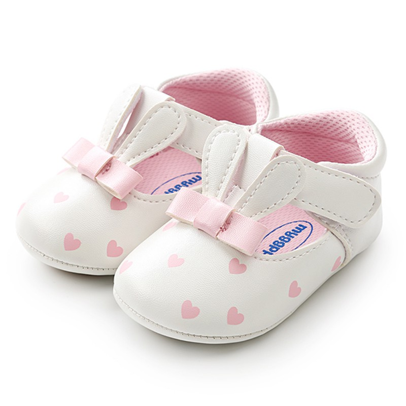 Soft Sole Girl Baby Shoes PU First Walkers Baby Girl Butterfly-knot Shoes 0-18 Months Baby Moccasins Shoes