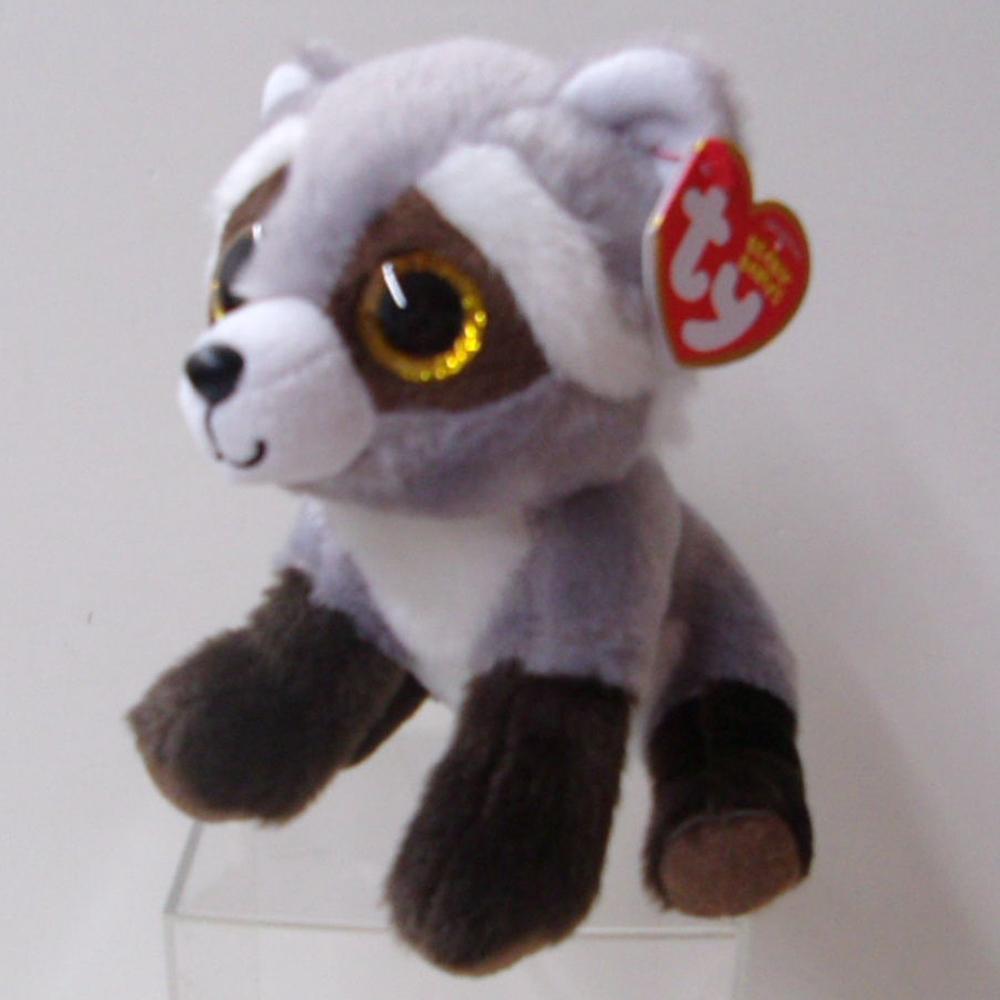 Pyoopeo Ty Beanie Babies 6 15cm Bandit The Raccoon Plush Regular