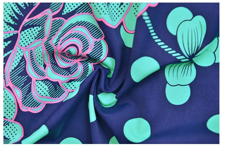 Latest ! Vintage Pad Swimwear Women Retro Plus Size One Piece Swimsuit Dress 4XL Floral Dot Backless Soft Bathing Suit F1692 29