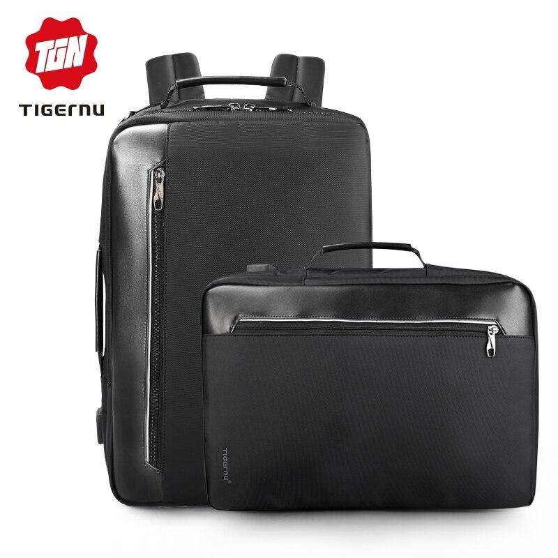 Tigernu 4 In 1 Multi Funktion Nylon Herren Business Schulter Rucksäcke 15,6 Zoll Usb Lade Laptop Bagpack Männlichen Mochila Reise Gepäck & Taschen