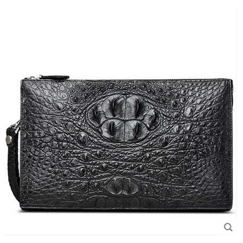 cestbeau Head bone crocodile skin men Bag file bag men clutch bag fashion and leisure new style цена