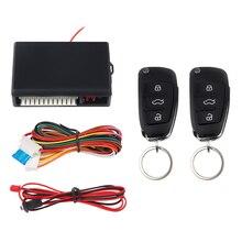 цена на Universal 12V Car alarm system Auto Door Remote Central Control Lock Locking Keyless LED Keychain Central Kit Door Lock