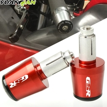 Motorcycle accessories For SUZUKI GSR CNC 22MM Handlebar Grips Handle Bar Cap End Plugs 750 600 400