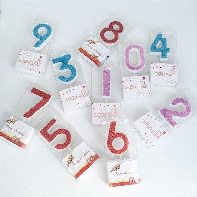 Numer urodziny świeca 0 1 2 3 4 5 6 7 8 złoty srebrny różowy czerwony dla Birthday Party Supplies dekoracje dla dzieci dziewczyna chłopiec świeczki na tort
