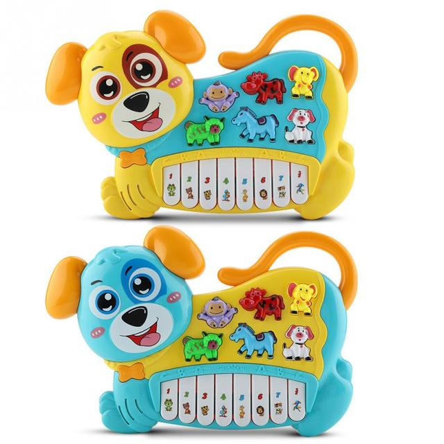 Baby Educational Musical Piano Toy Cute Dog Modeling Kids Auditory