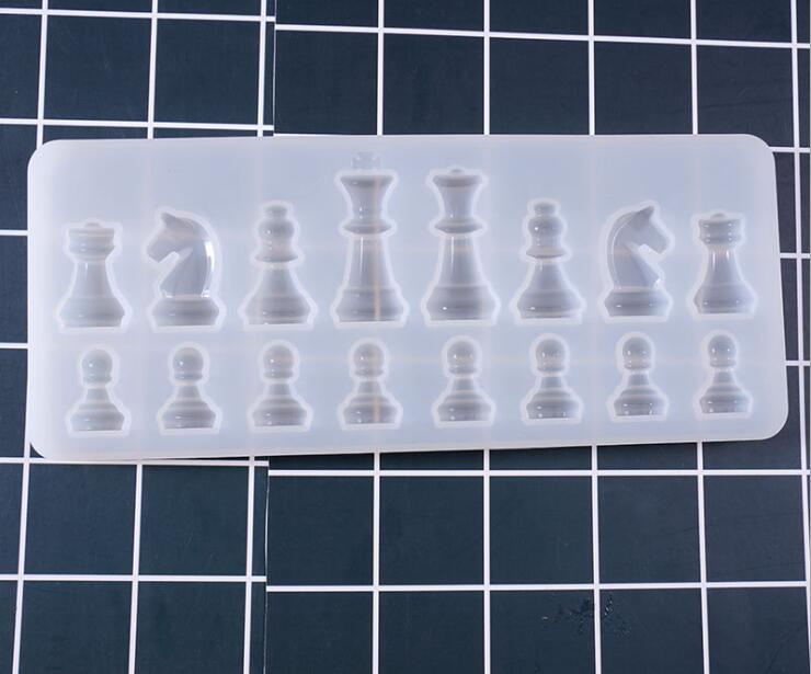 Chess Pieces Jewelry Making Epoxy Mould 9OVE DIY Handmade Crafting Tool Silicone Mold