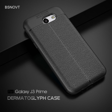 For Samsung Galaxy J3 2017 Case Silicone PU Leather Anti-knock Prime