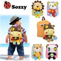 Sozzy Back To School Cartoon Animal Design Kids Backpack Stuffed Plush Animals Doll Toys Children Cute