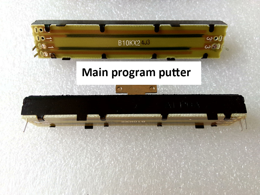 Original Pearl Console Fader Tiger Console Putter Main Program Total Dimming Putter ALPHA Potentiometer