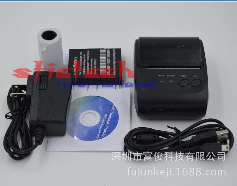 Prix pour Par dhl ou ems 10 ensembles Portable Bluetooth Sans Fil Thermique Imprimante Impression Imprimante Ticket avec Batterie Au Lithium pour Android