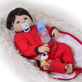 "NPK 23"" Full Body Silicone Reborn Baby boy reborn doll toys bathe Play House dolls baby toddler reborn bonecas kids gift doll"