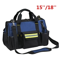 Urijk 18 Inch Big Outdoor Network Electrician Repairing Oxford Tool Bag Multifunction Waterproof Wearable Strap High