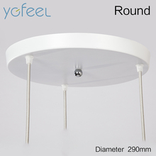 Modern Home Pendant Light 3 Heads Round/Rectangle Ceiling Plate