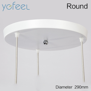 Image 3 - [YGFEEL] Modern Dining Room Pendant Light 3 Heads Round/Rectangle Ceiling Plate Indoor Living Room Bedroom Decoration Lamp