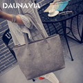 2016 autumn winter fashion formal women's vintage handbag brief one shoulder big bags gray /black large capacity bag