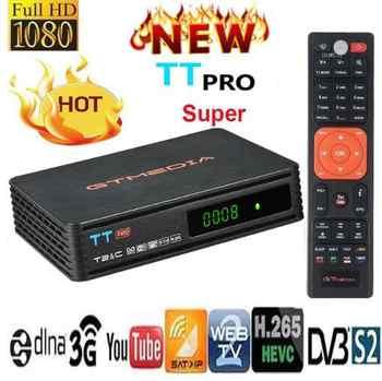 Medios GT TT Pro DVB-T2/DVB Cable HD decodificador Receptor de TV Terrestre con Antena WiFi H.264/H.265 HEVC/MPEG2/MPEG4 ccamYoutube