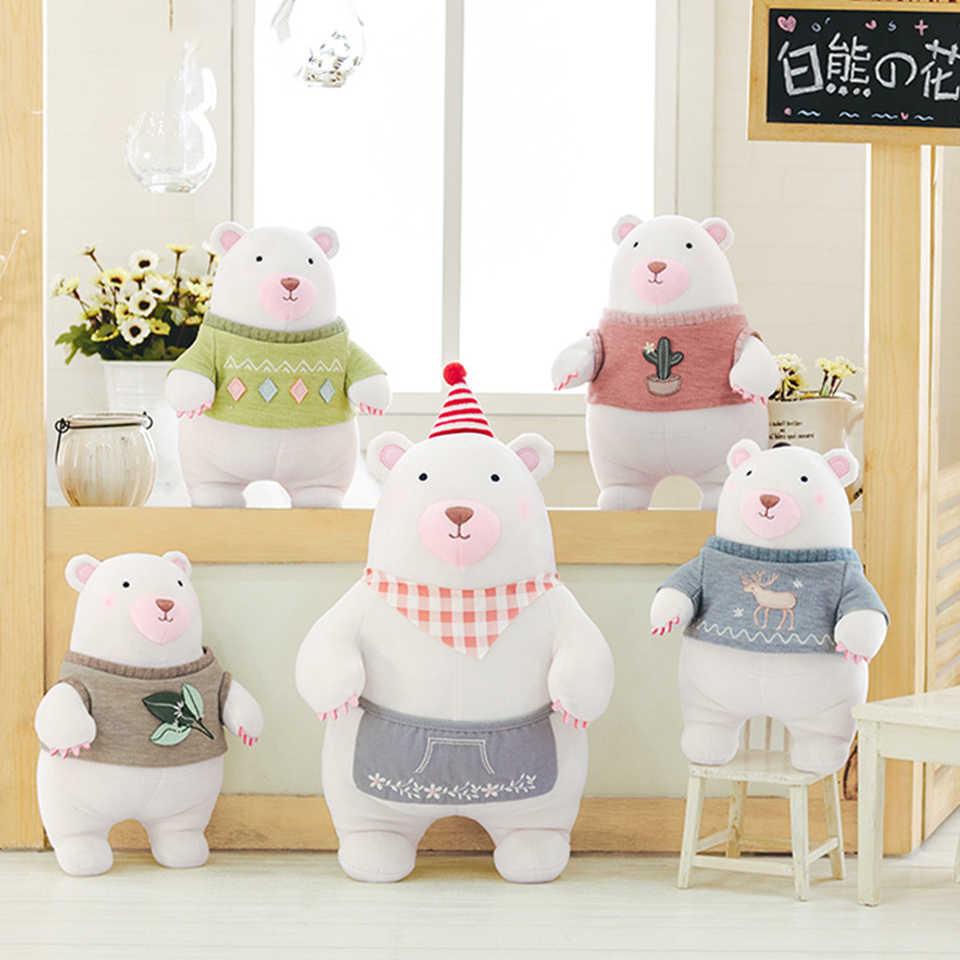 Новое плюшевое игрушечное платье-передник, деревянная кукла медведя, анималистическая мультяшная плюшевая игрушка