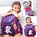 Детские школьные сумки  милый водонепроницаемый ортопедический школьный рюкзак для мальчиков и девочек  детский школьный рюкзак с рисунко...