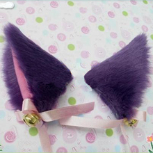 1Pair Lovely Women Bell Cat Ears Hair Clip Sweet Cosplay 6 Colors Sweet Funny Halloween Party