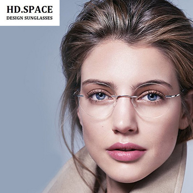 Ultra-light Titanium Alloy Rimless myopia glasses Nearsighted Glasses prescription glasses -1.0,-1.5,-2.0,-2.5,-3.0,-3.5, -4.0