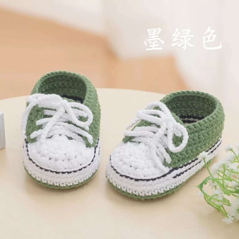 QYFLYXUEQYFLYXUE - Neonatal Hand-made Wool Shoes, Footwear Sneakers, Baby Gifts, Cotton Knitted Shoes