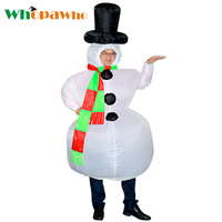 Christmas Carnaval Adult Snowman Inflatable Costume Cosplay Dress Halloween Costumes for Women