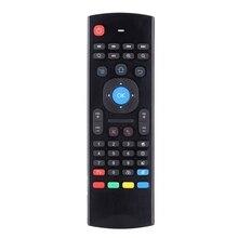 MX3 Tragbare 2,4G Drahtlose Fernbedienung Tastatur Controller Air Maus für Smart TV Android TV box mini PC HTPC schwarz