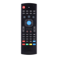 MX3 taşınabilir 2.4G kablosuz uzaktan kumanda klavye denetleyici hava fare için akıllı TV Android TV kutusu mini PC HTPC siyah