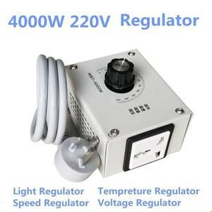 Image 5 - MINI 4000 W 220 V AC napięcia SCR ciśnienia silnik regulatora prędkości kontroler termostat ściemniacz światła dwukierunkowy układ technologii