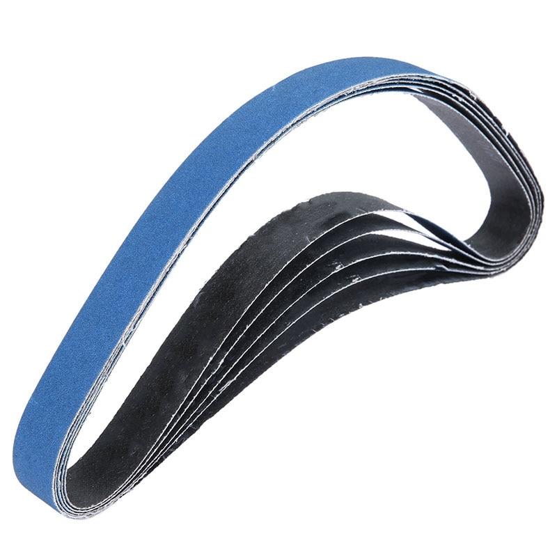 5 Pcs 25x760 Mm Abrasive Sanding Belts For Air Belt Sander Aluminium Oxide Grinder Belt For Metal Grinding Grit 60 For Wood So