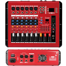 Pro 6 Channel 800W Power Mixer Amplifier Microphone Mixing Console Sound with USB 48V Bluetooth Monitor 2 in 1 Function цена и фото