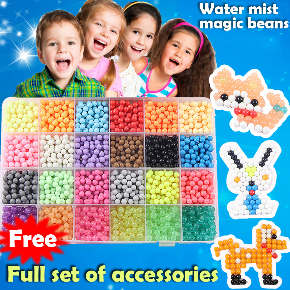Multicolor DIY Water Spray Magic Beads Ring Refill 3D Puzzle Educational Kit Ball Game Toys For Children Juguetes