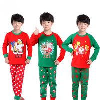 2017 Winter Brand Girls Boys Christmas Pajamas Sets Toddler Baby Cotton Outfit Clothing Kids Clothes Pyjamas