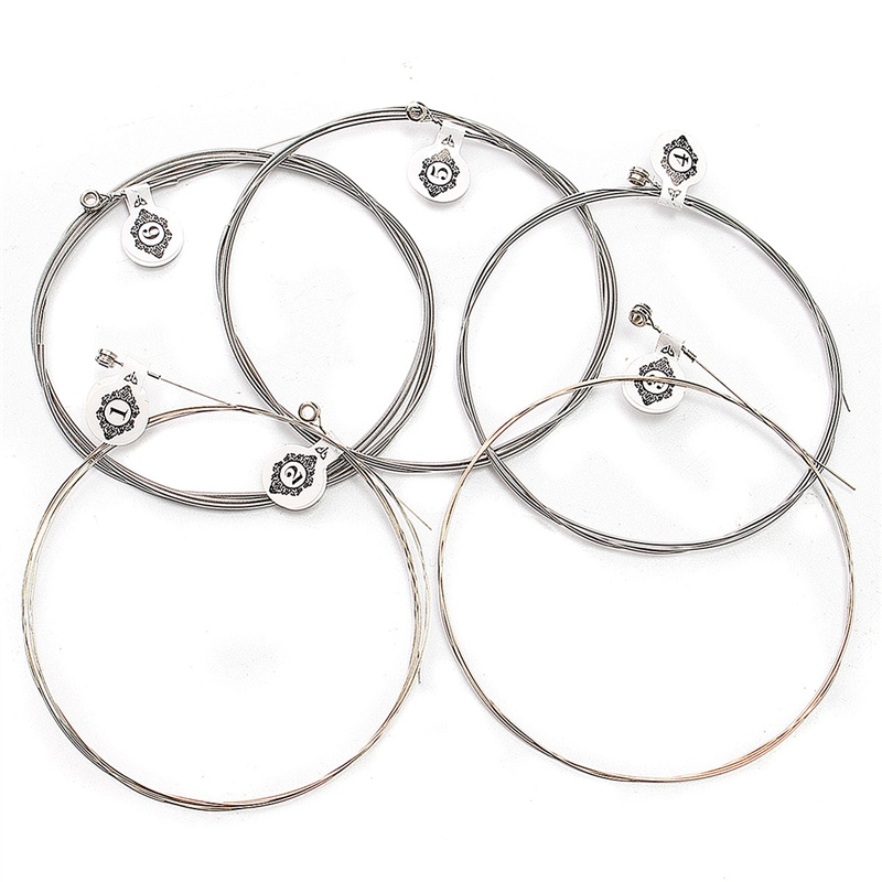 6PC Steel Strings For Acoustic Electric Guitar Replacement 0 .009/0.011/0.016/0.024/0.032/ 0.042in