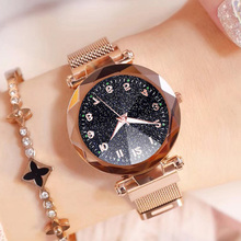 цена Watches Women Starry Sky Watch 2019 Fashion Luxury Stainless Steel Magnetic Refractive surface Luminous Dial Ladies Quartz Watch