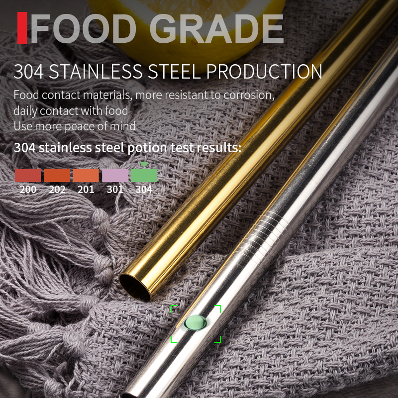 Image 3 - Reusable Metal Drinking Straws 4/8Pcs 304 Stainless Steel Sturdy Bent Straight Drinks Straw-in Drinking Straws from Home & Garden
