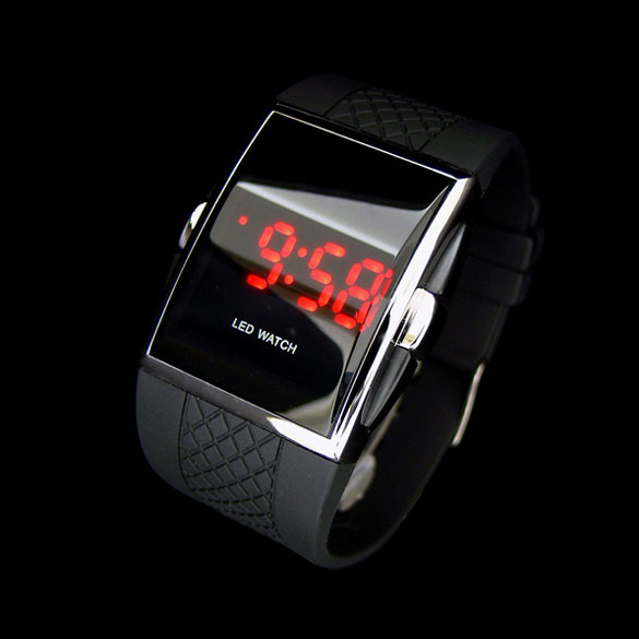 Hot Style Fashion Digital LED Wrist Watch Wristwatch Gifts Kid Boys Men Black Watch For Lover Gift  LL