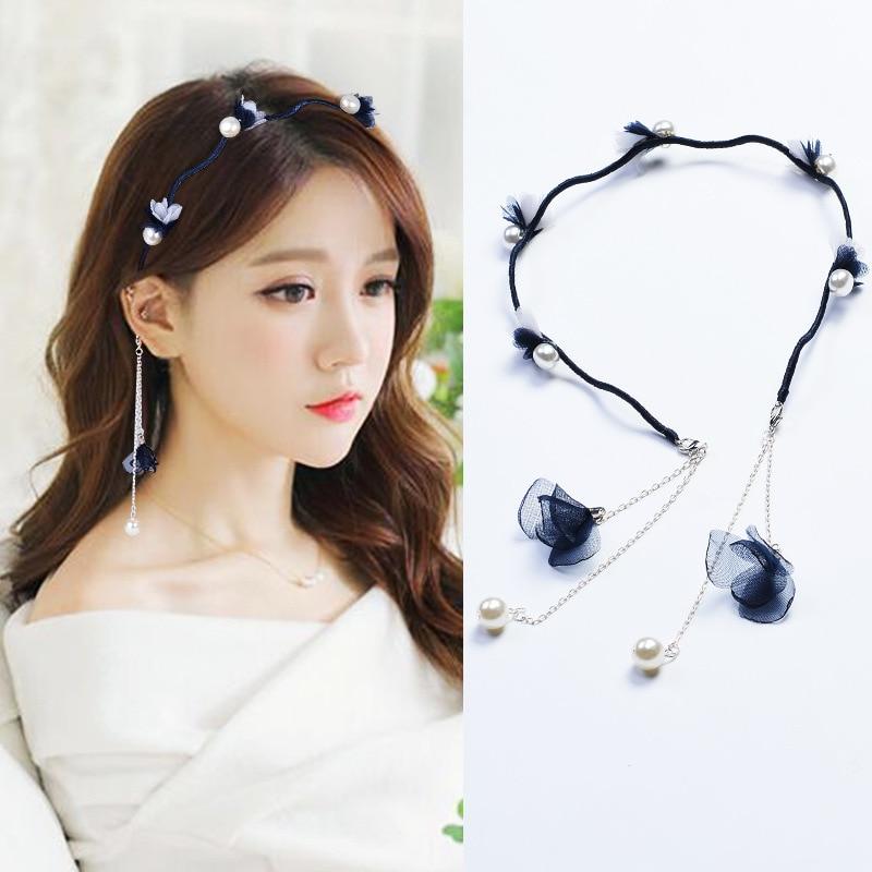 Small Fresh Fashion Flower Hairband Pearl Hair Head Hoop Bands Accessories  cloth Headband For Women Girl Hair Scrunchy Headdress-in Women s Hair  Accessories ... 3d83e30ec847