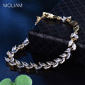 MOLIAM Fashion Austrian Crystals Wheat Bracelet  Elegant Zircon Hand Chain Bangle Fashion Jewelry L145