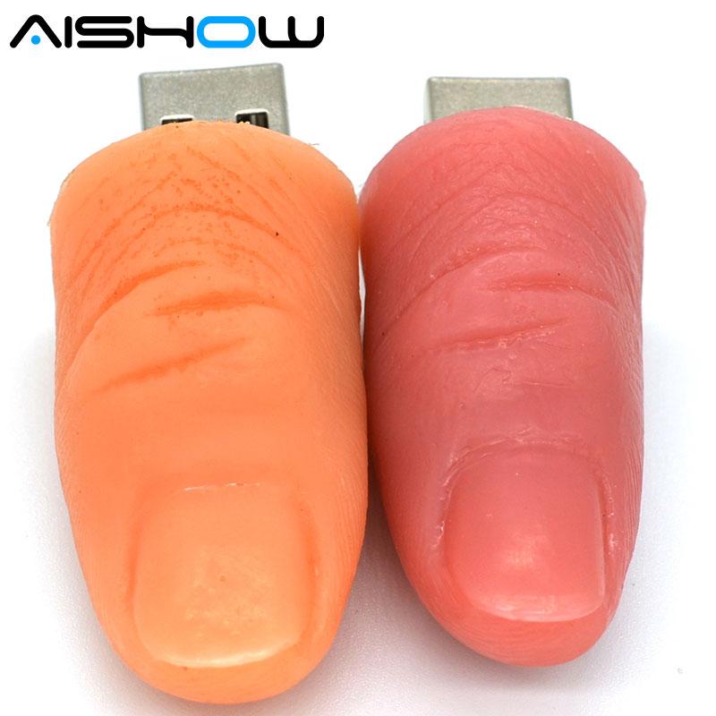 pen drive modello cartoon di un dito umano da 8 GB 16 GB 32 GB 64 GB - Archiviazione esterna