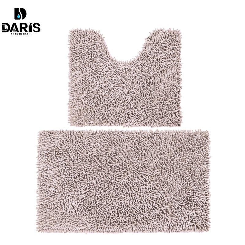 SDARISB Soft Floor Mat Shaggy Carpet Rug Entrance Chenille Bathroom Absorbing Carpet Bathroom Mat Set Bath Mat