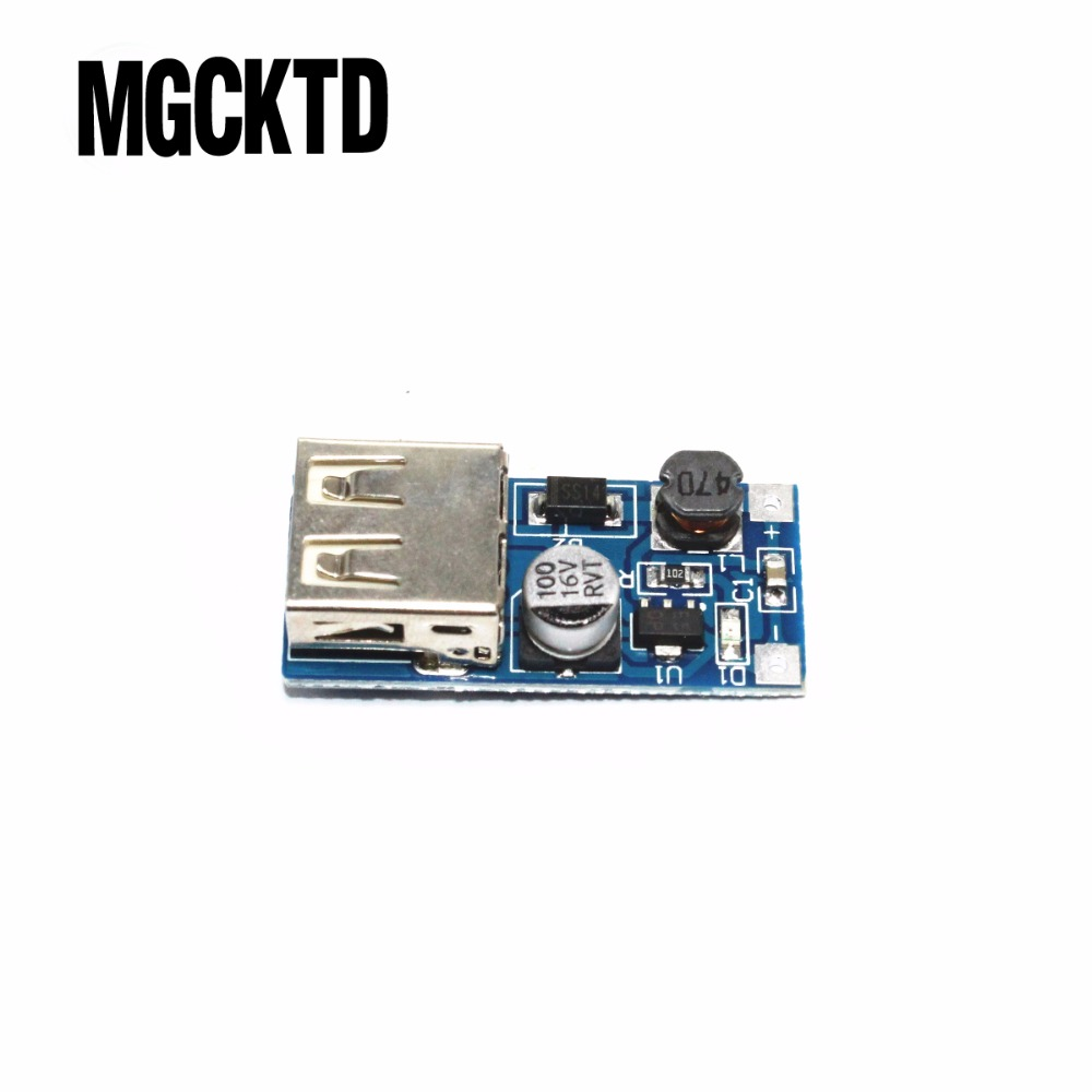 10pcs/lotDC-DC Boost Module Power Supply Module 0.9V ~ 5V to 5V 600MA USB Mobile Power Boost Circuit Board