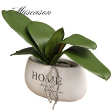 1Pcs Phalaenopsis leaf artificial plant leaf decorative flowers auxiliary material flower decoration Orchid leaves real touch(China)