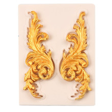 Baroque Scroll Leaves Silicone Mold Cake Border Fondant Decorating Tool Candy Chocolate Gumpaste Resin Craft Molds