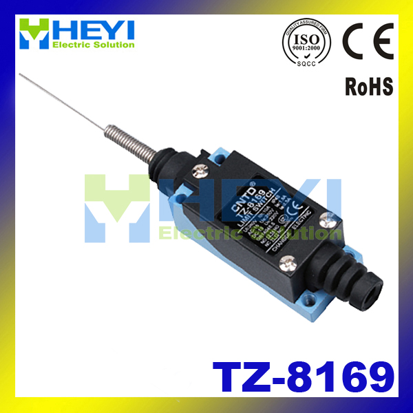 waterproof Metal end Cat whisker type limit switch tz-8169 micro switch water resistant tz 8169 no nc flexible coil spring actuator limit switch for cnc mill plasma