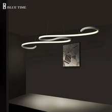 Aluminum Modern Led Chandeliers L108cm Hanging Lamp Ceiling Chandelier Lighting For Dining room Living room Office Light Fixture modern led lustre chandelier hanglamp remote control chandeliers hanging lighting dining room restaurant office light fixture